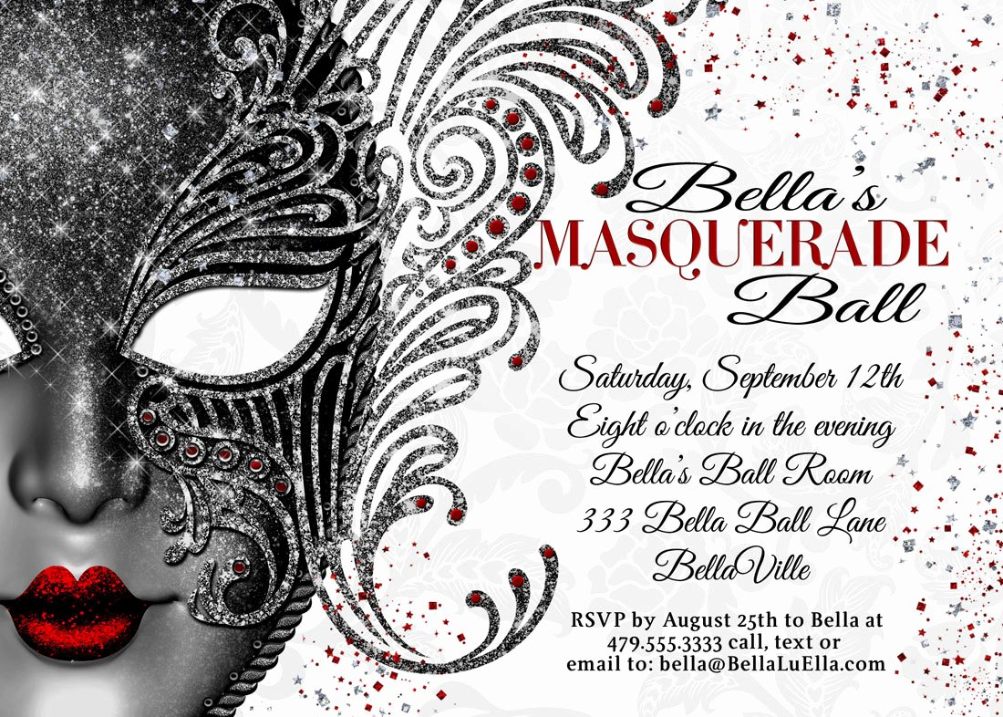 Masquerade Ball Invitations Template Elegant Masquerade Invitations Templates