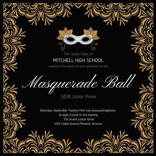 Masquerade Ball Invitations Template Luxury Customize 148 Masquerade Invitation Templates Online Canva