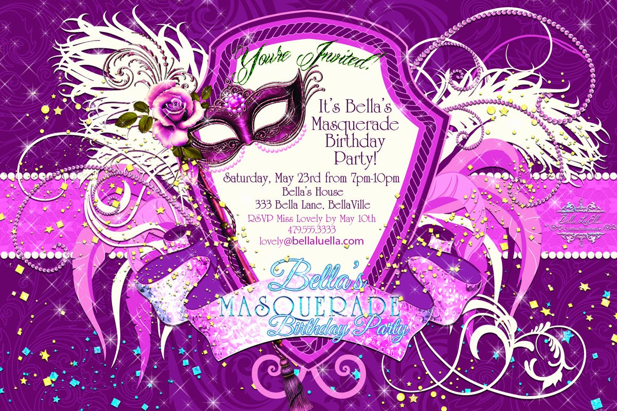 Masquerade Ball Invitations Template New Bella Luella Masquerade Parties for Spring and Summer