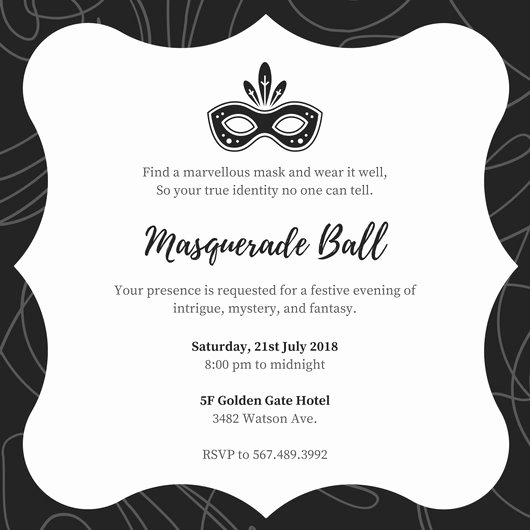 Masquerade Ball Invitations Template New Customize 148 Masquerade Invitation Templates Online Canva