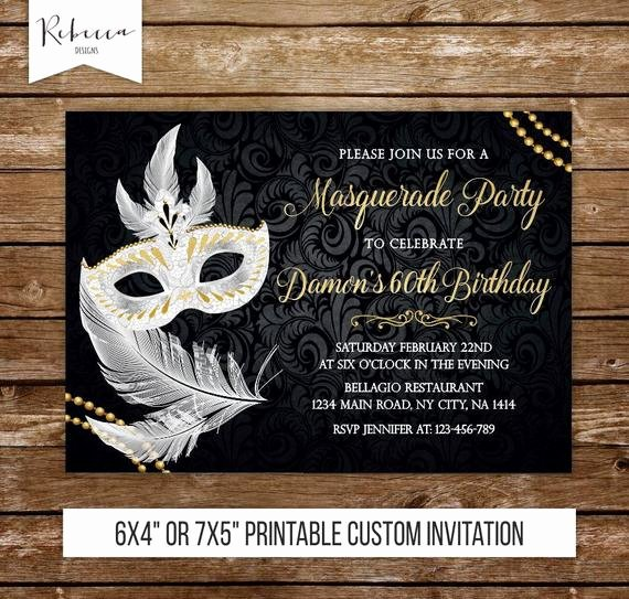 Masquerade Ball Invitations Template New Masquerade Invitation Masquerade Ball Invitation Masquerade