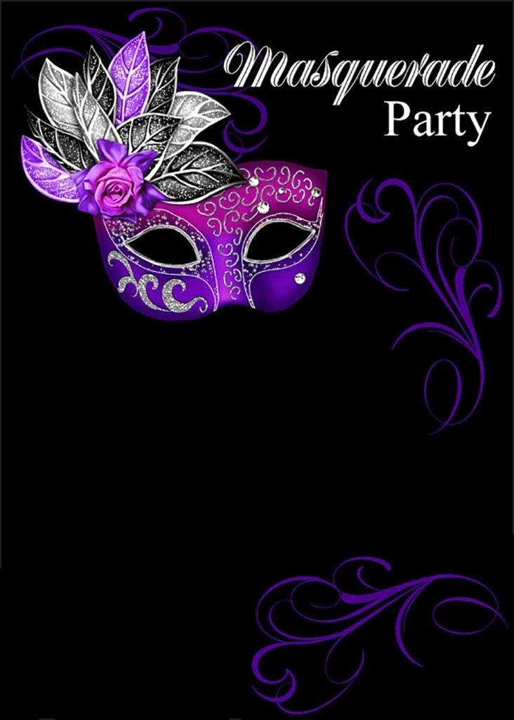 Masquerade Mask Invitation Template Fresh Free Line Masquerade Invitation
