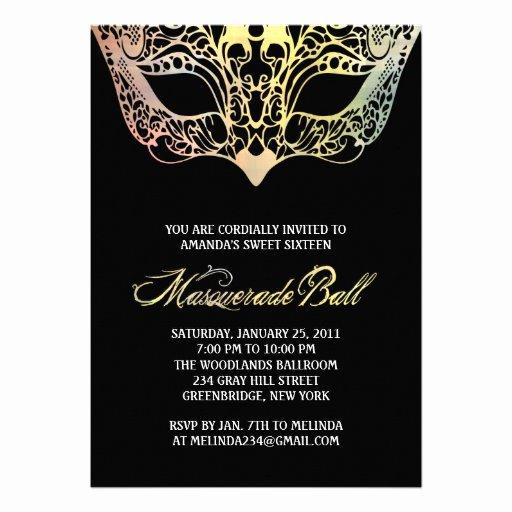 Masquerade Mask Invitation Template Fresh Personalized Elegant Masquerade Party Invitations