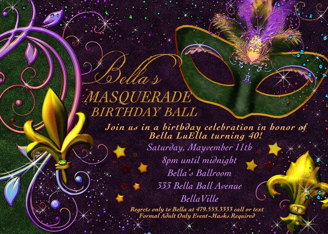 Masquerade Mask Invitation Template Luxury Mardi Gras Party Invitations Templates Cloudinvitation
