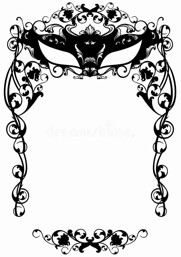 Masquerade Mask Invitation Template Luxury Masked Ball Invitation Stock Vector Illustration Of