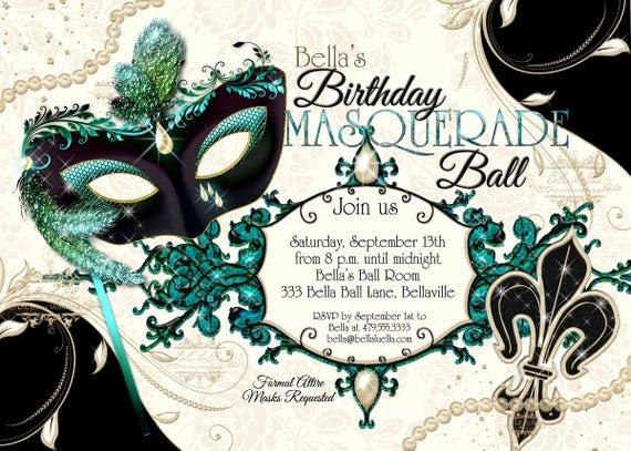 Masquerade Mask Invitation Template Luxury Masquerade Party Invitation Mardi Gras Party Party
