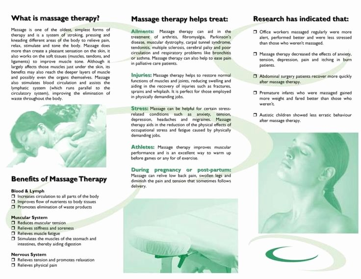 Massage therapy Business Plan Template Luxury Free Downloadable Massage therapy Brochures