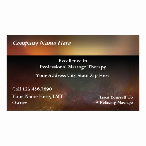 Massage therapy Business Plan Template Unique Massage Business Cards 3700 Massage Business Card Templates
