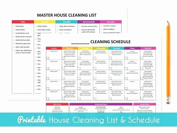 Master Cleaning Schedule Template Awesome Daily House Cleaning Schedule – Annsingletonsignsfo