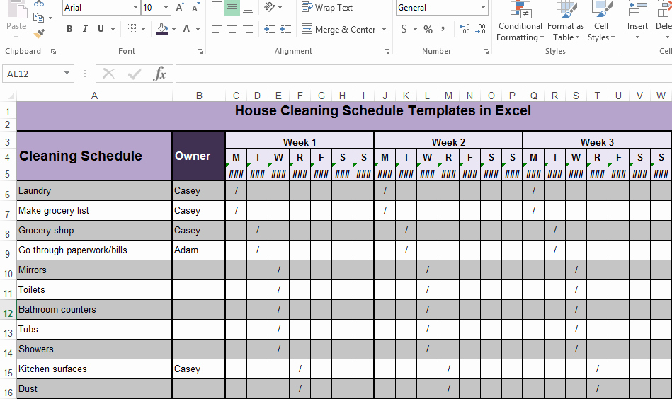 Master Cleaning Schedule Template Elegant House Cleaning Schedule Templates In Excel