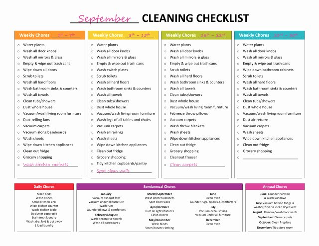Master Cleaning Schedule Template Luxury Plete Housekeeping Printable Set – Gone Like Rainbows