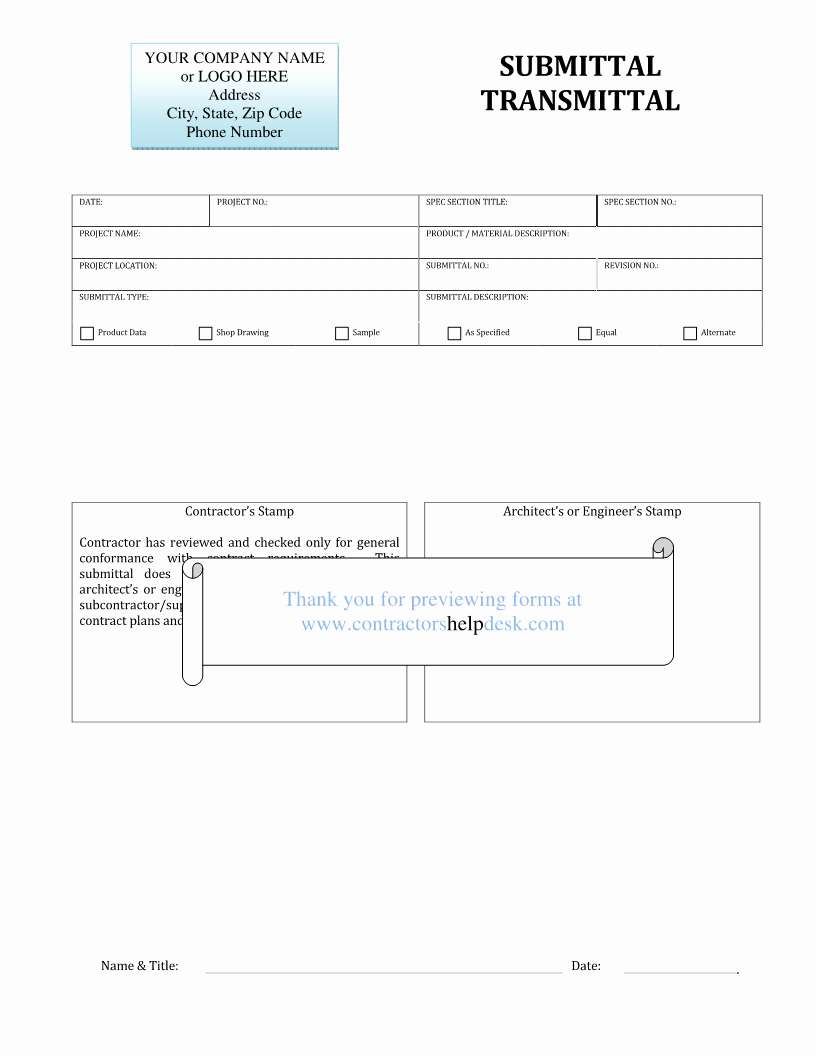 Material Submittal form Template Lovely Good Submittal Stamp Template S Engineer Architect