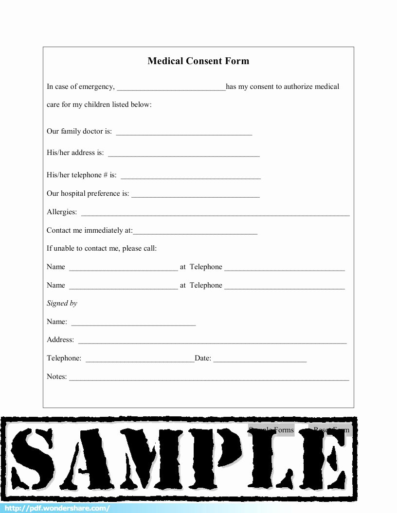 Medical Consent form Template Free Elegant Medical Consent Free Download Create Fill Print Pdf