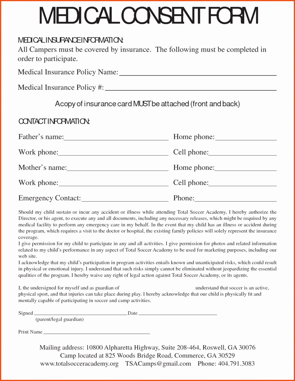Medical Consent form Template Free Luxury Medical Consent Letter for Grandparents Template