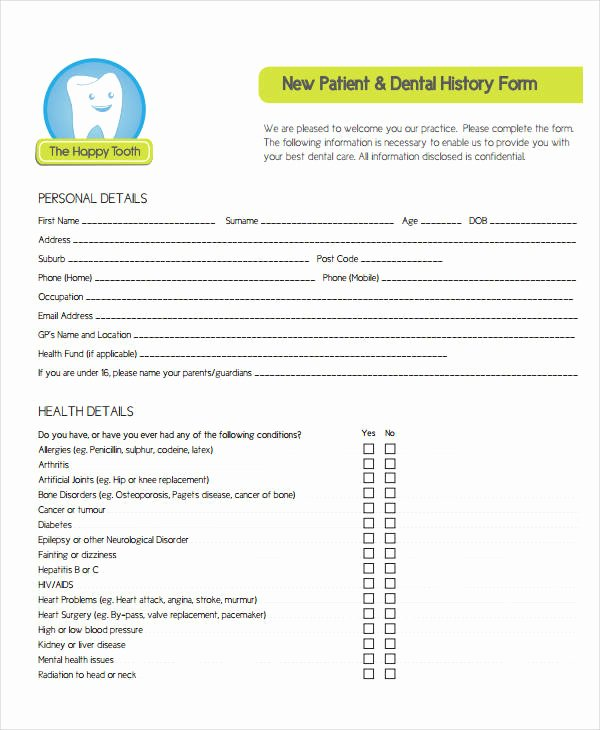 Medical History form Template Pdf Fresh Medical History form 9 Free Pdf Documents Download