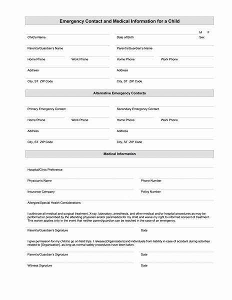 Medical Information form Template Inspirational Medical Information form – Medical form Templates