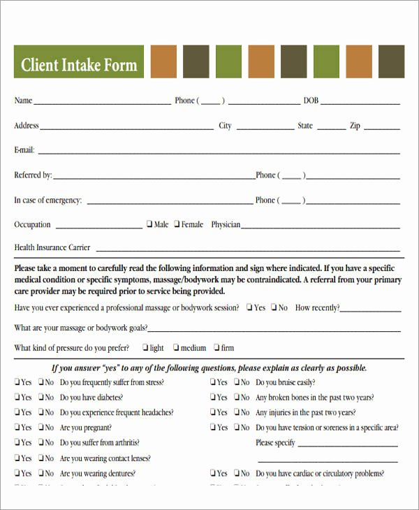 Medical Intake form Template Inspirational 46 Free Medical forms