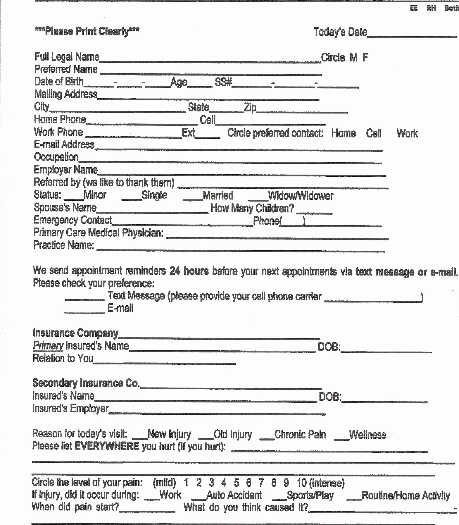 Medical Intake form Template New Brookhaven Chiropractic Center Chiropractor In Memphis