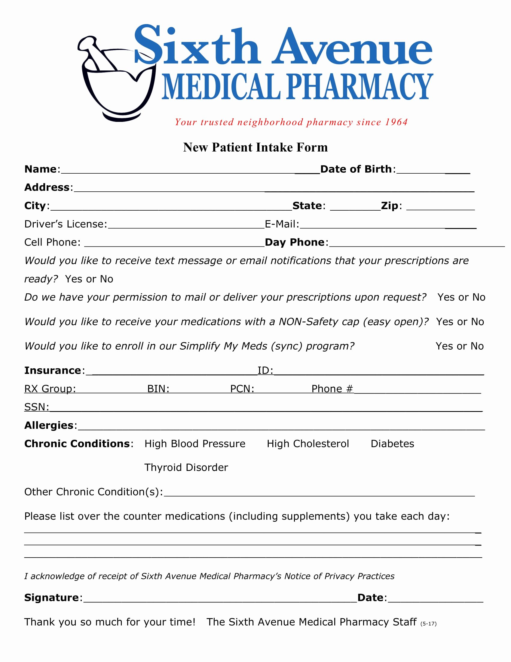 Medical Intake forms Template Awesome Free 4 New Patient Intake forms