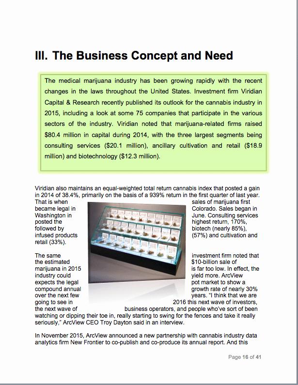 Medical Marijuana Business Plan Template Lovely Medical Marijuana Business Plan Sample Pages Black Box