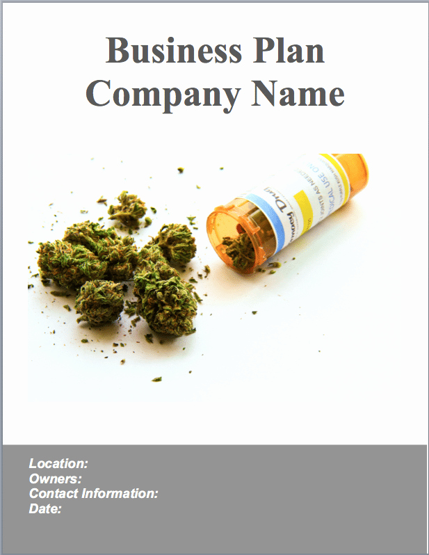 Medical Marijuana Business Plan Template New Medical Marijuana Dispensary Business Plan Sample Pages