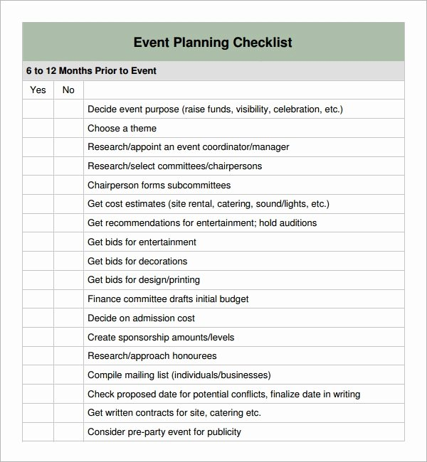 Meeting Planner Checklist Template Best Of 11 Sample event Planning Checklists – Pdf Word