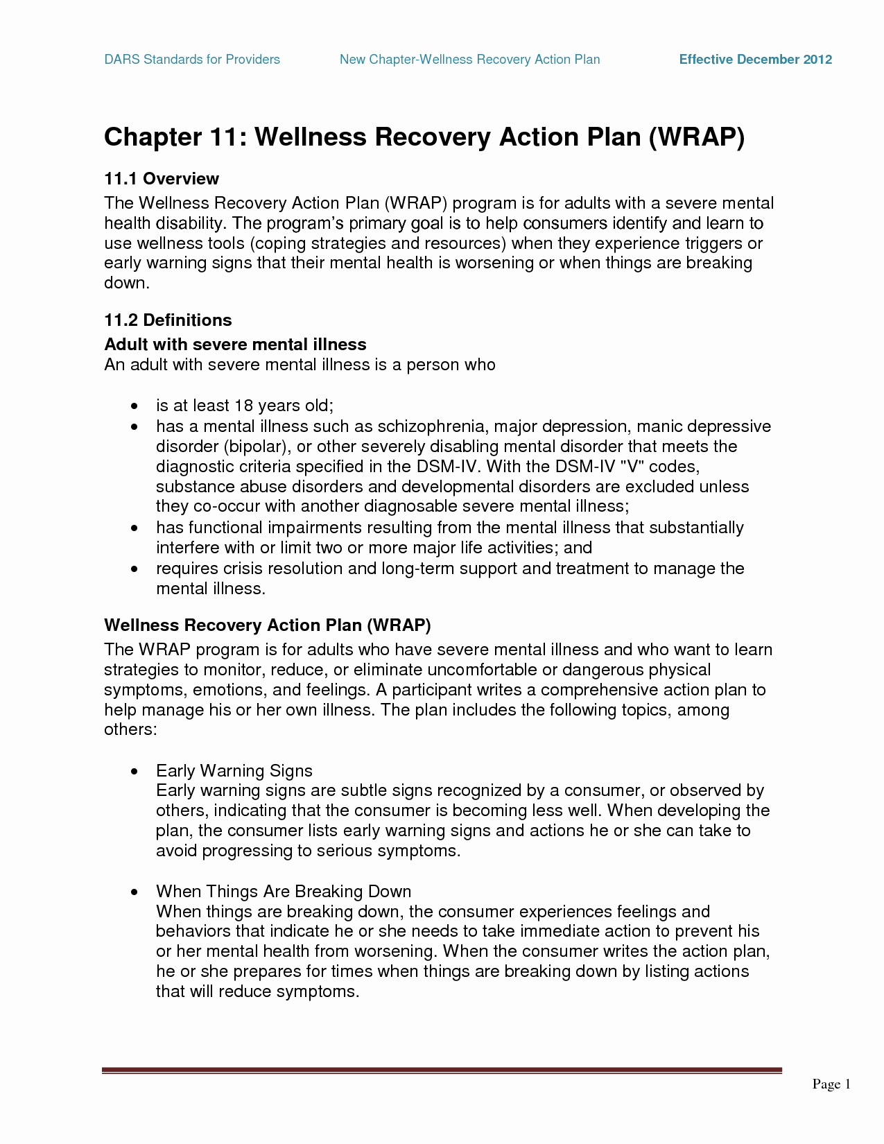Mental Health Crisis Plan Template New Wrap Mental Health