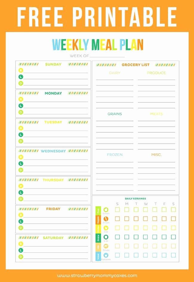 Menu Planner Template Free Beautiful Free Printable Weekly Meal Plan Pins I Love