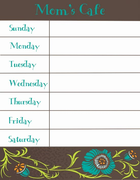 Menu Planner Template Free Best Of 30 Family Meal Planning Templates Weekly Monthly Bud