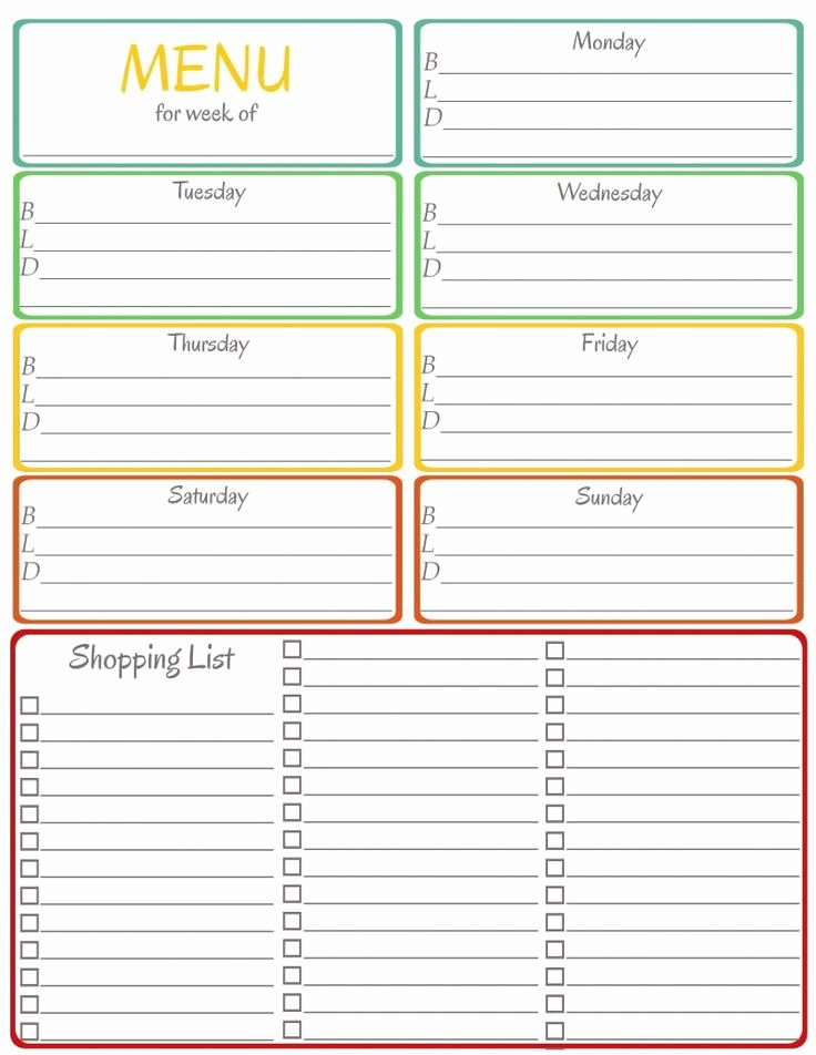 Menu Planner Template Free Elegant Menu Planner Printable Let Each Kid Pick A Meal for