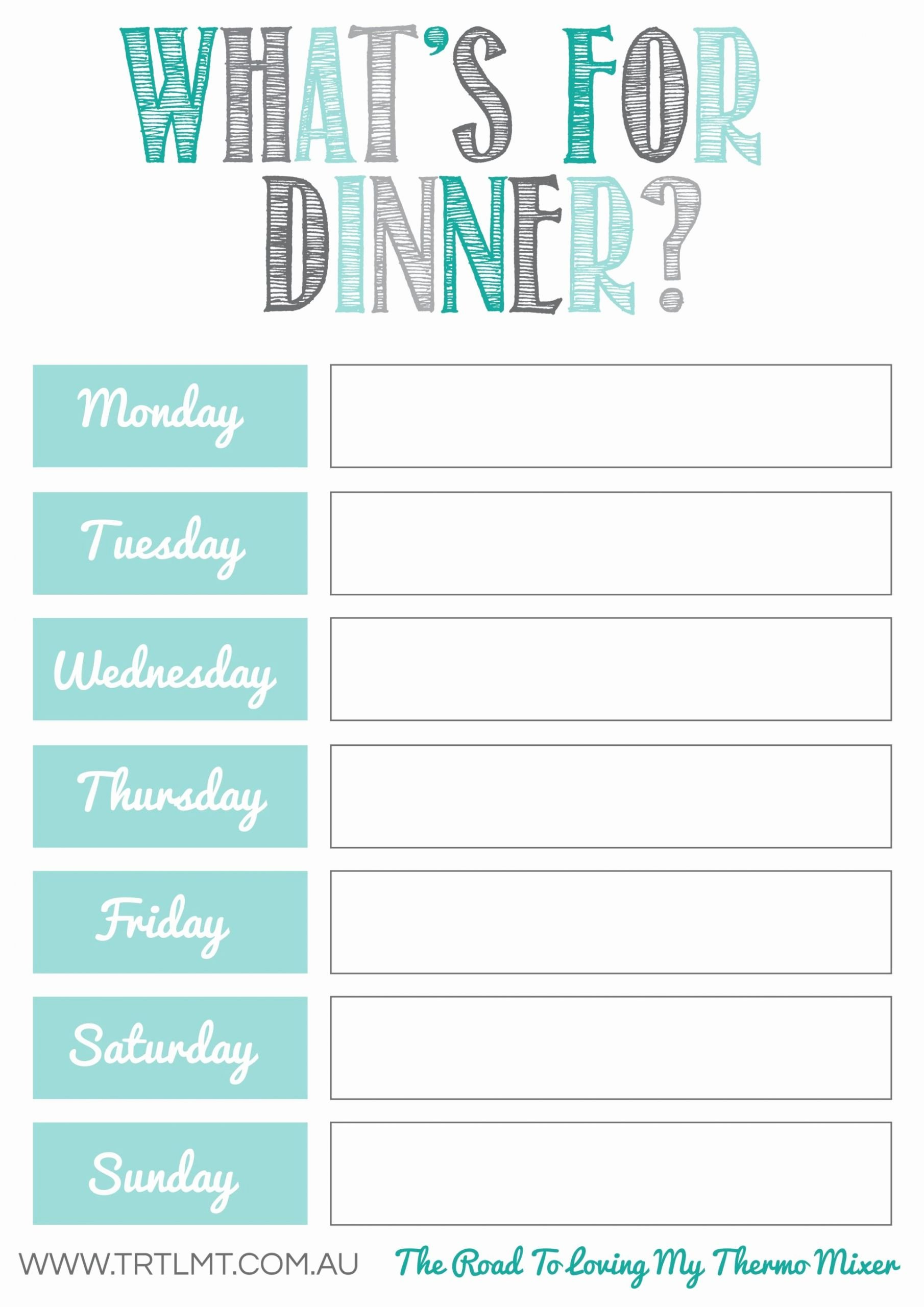 Menu Planner Template Free Luxury What S for Dinner 2 Fb organization
