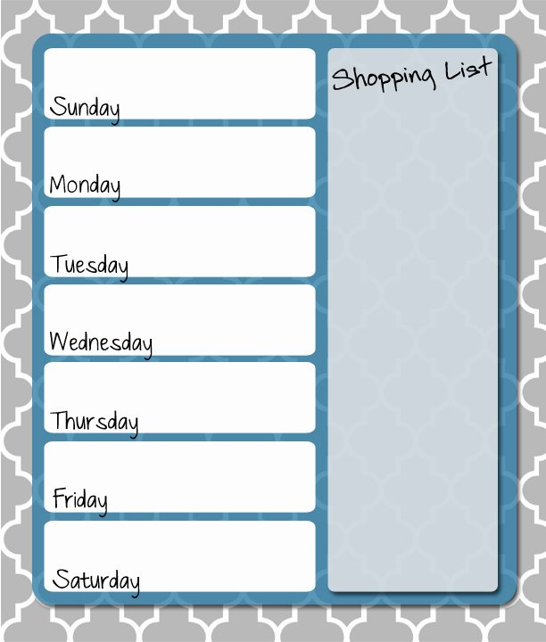 Menu Planner Template Free Unique Free Printable Weekly Menu Planner