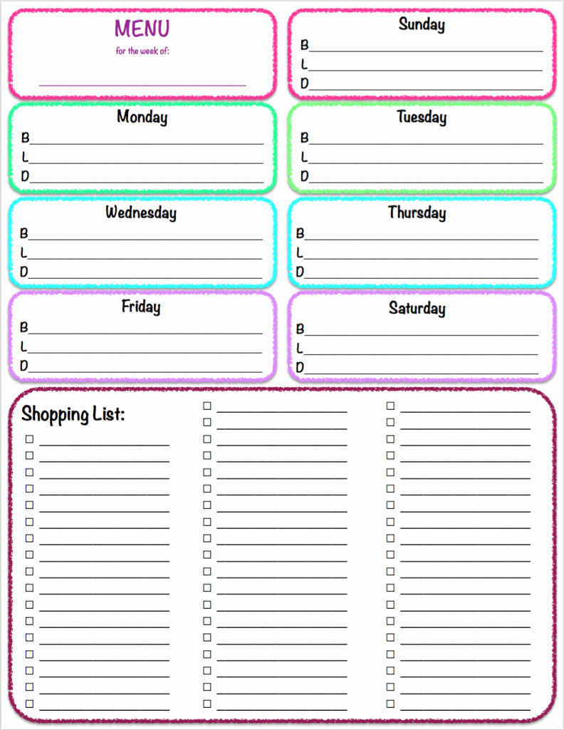 Menu Planner Template Printable Awesome Free Printables Weekly Meal Planner & Grocery List the