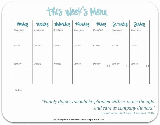 Menu Planner Template Printable Best Of 30 Family Meal Planning Templates Weekly Monthly Bud