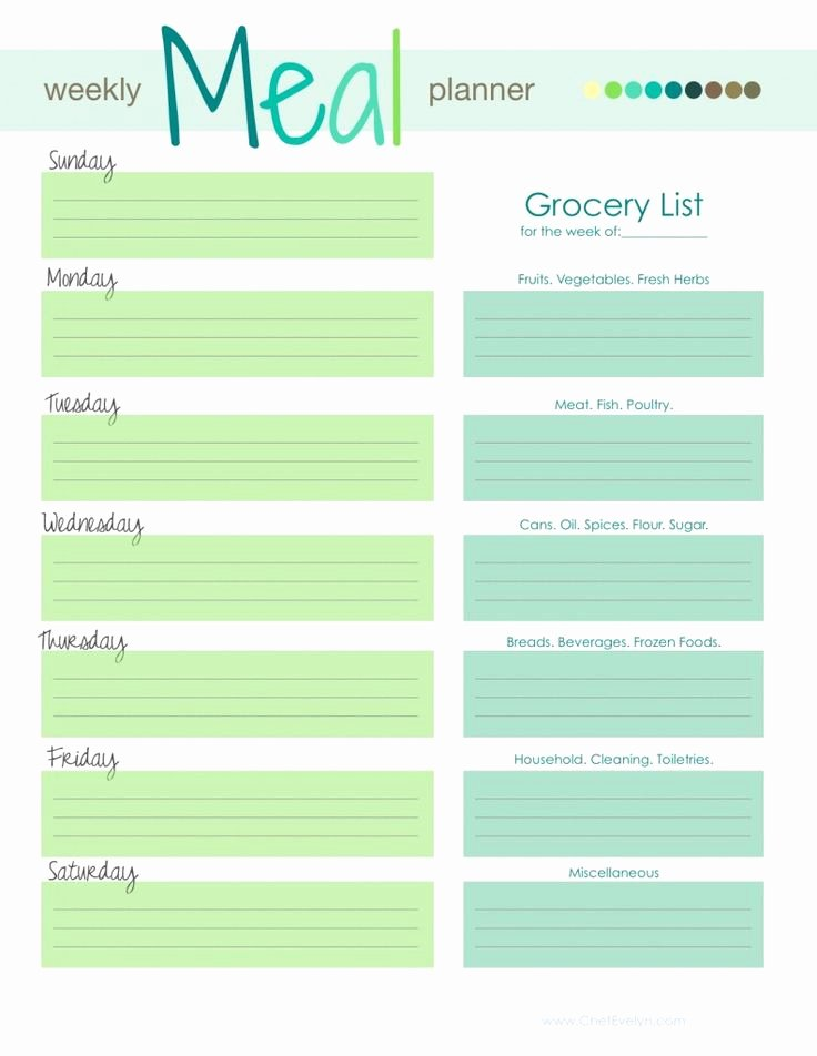 Menu Planner Template Printable Elegant 9 Best Images About Menu Planning On Pinterest