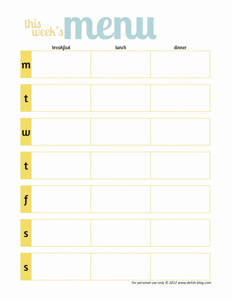 Menu Planner Template Printable Inspirational Little Housewife Meal Planning