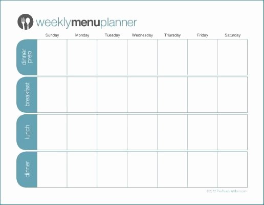 Menu Planner Template Printable Lovely to Print Tpm E Week Menu Planner