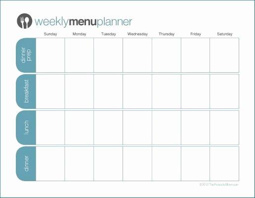 Menu Planner Template Printable Lovely to Print Tpm E Week Menu Planner