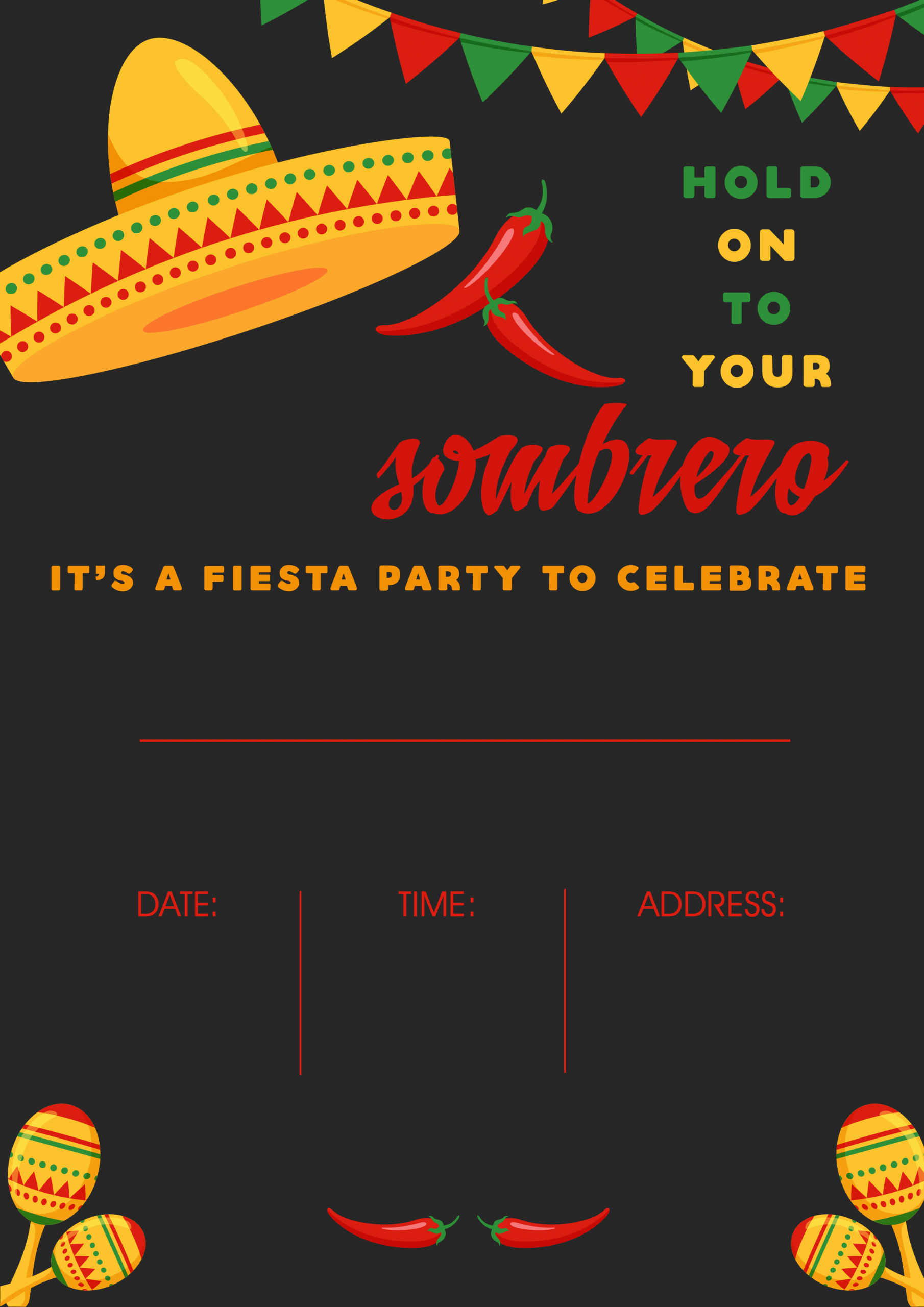 Mexican Party Invite Template Beautiful Mexican Party In the Spotlight themed Party Ideas All