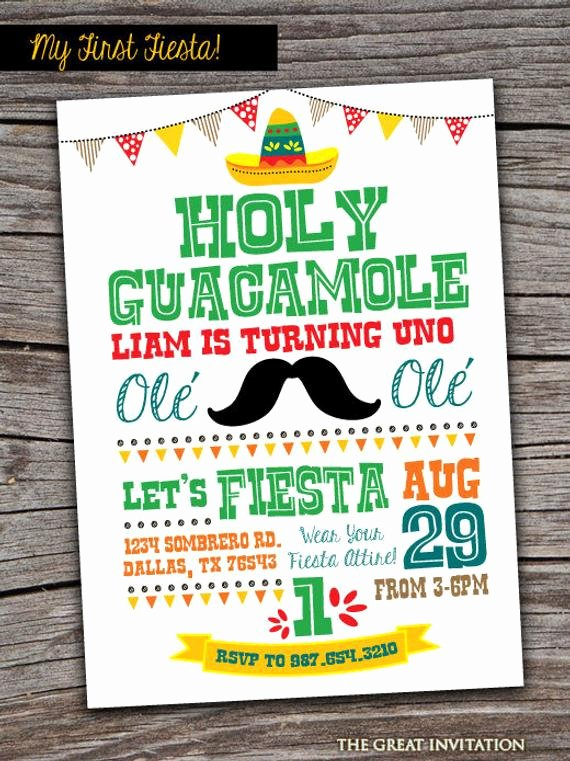 Mexican Party Invite Template Best Of Fiesta Invitation Fiesta Invite First Fiesta Birthday Holy