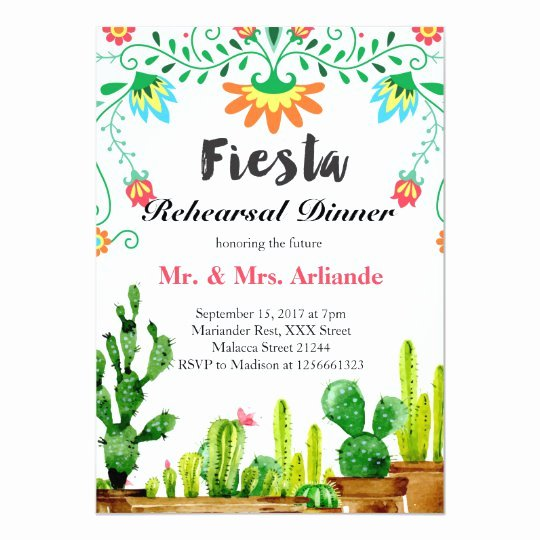 Mexican Party Invite Template Best Of Mexican Fiesta Rehearsal Dinner Invitation