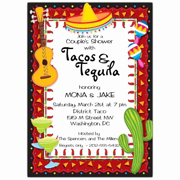 Mexican Party Invite Template Best Of Mexican Party Fiesta Invitations