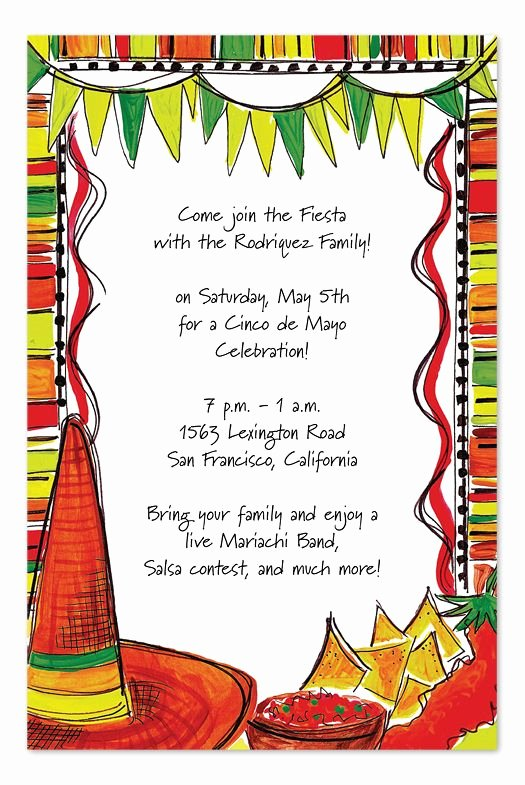 Mexican Party Invite Template Fresh Mexican Fiesta by Invitation Consultants