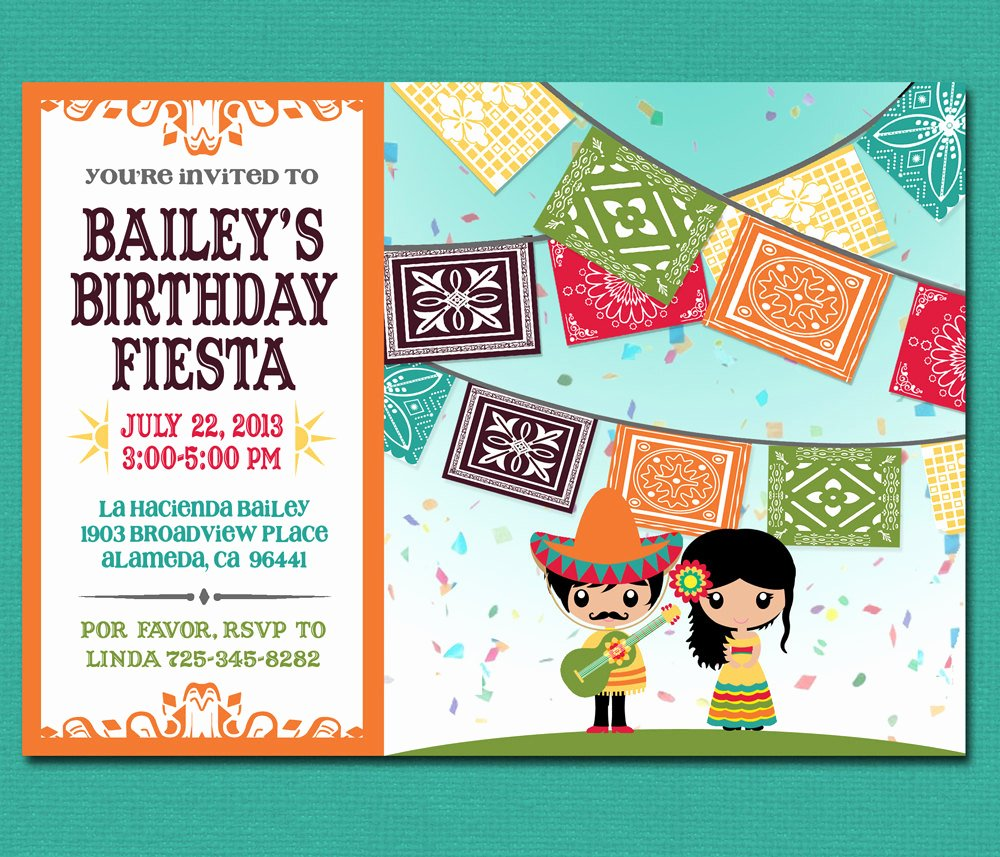 Mexican Party Invite Template Fresh Print Yourself Kid S Mexican Fiesta Invitation by