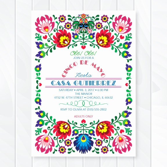 Mexican Party Invite Template Lovely Cinco De Mayo Fiesta Invitation – First Es Love then