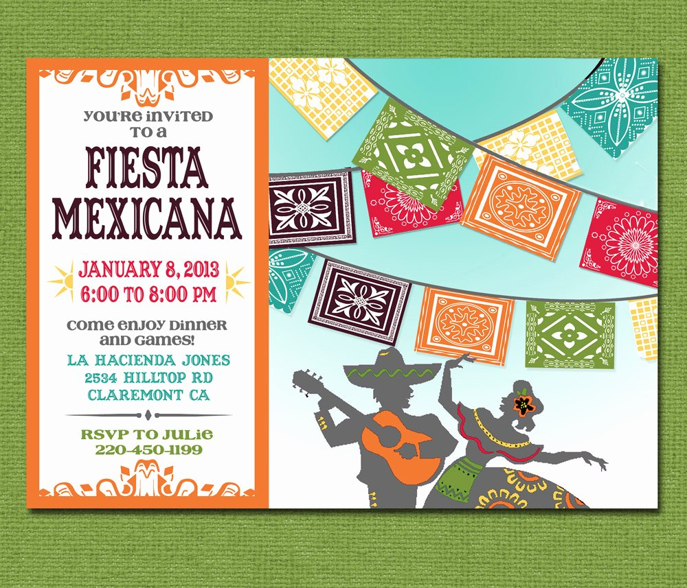 print yourself mexican fiesta invitation