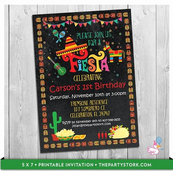 Mexican Party Invite Template Unique Fiesta Invitation Mexican Fiesta Invitations Mexico theme
