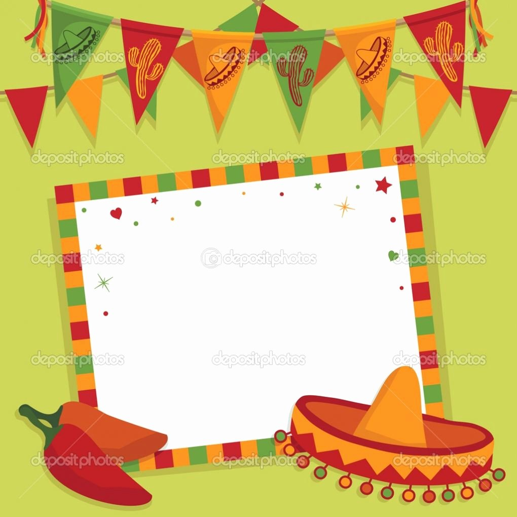 Mexican Party Invite Template Unique Mexican Fiesta Invitation Templates Free