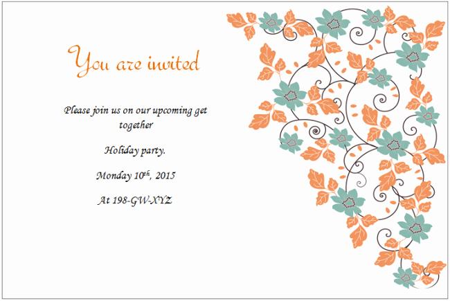 Microsoft Office Invitation Template Elegant Holiday Invitation Templates Templates for Microsoft Word