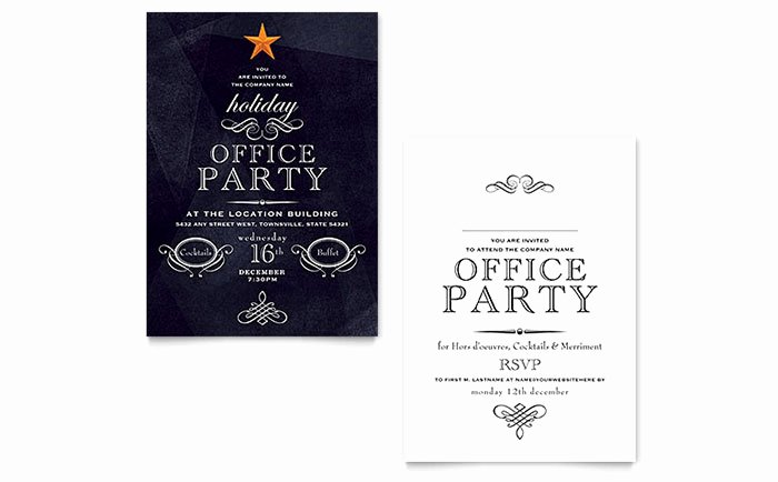 Microsoft Office Invitation Template Lovely Fice Holiday Party Invitation Template Word & Publisher